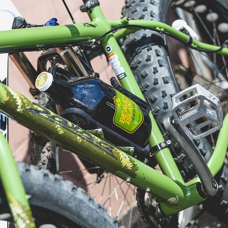 Beaver Island Brewing bike + growler