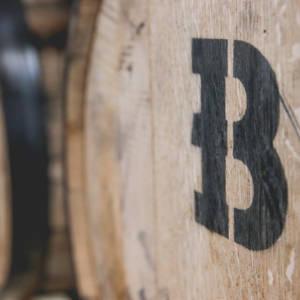 Beaver Island Brewing aging barrel