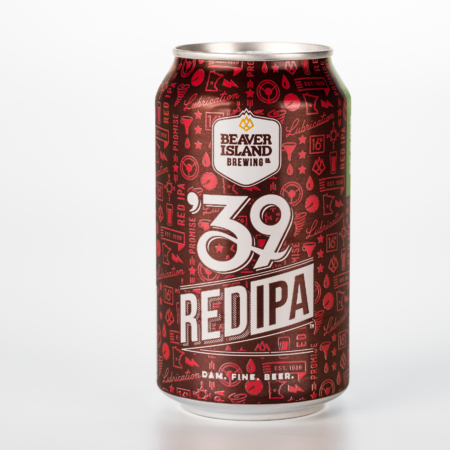 Beaver Island Brewing 39 Red can