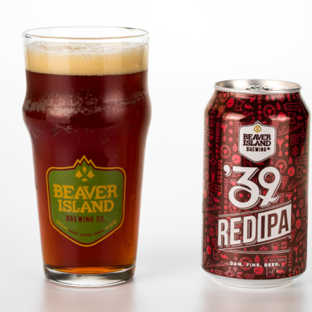 Beaver Island Brewing 39 Red glass