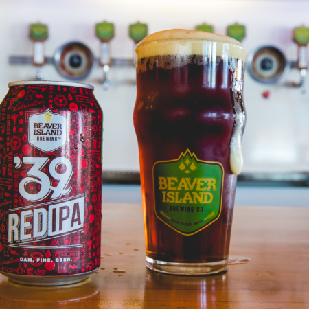 Beaver Island Brewing 39 Red glass taproom