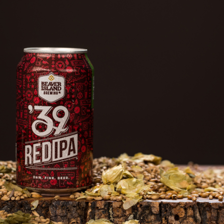Beaver Island Brewing 39 Red hops + grains