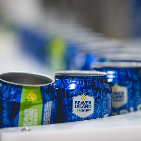 Beaver Island Brewing canning line 4