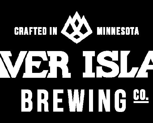 Beaver Island Brewing logo horizontal white
