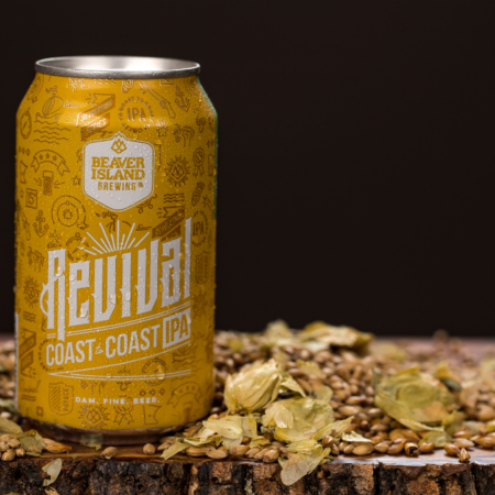 Beaver Island Brewing Revival hops + grains