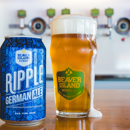 Beaver Island Brewing Ripple glass taproom