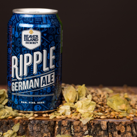 Beaver Island Brewing Ripple hops + grains