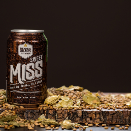 Beaver Island Brewing Sweet Miss hops + grains