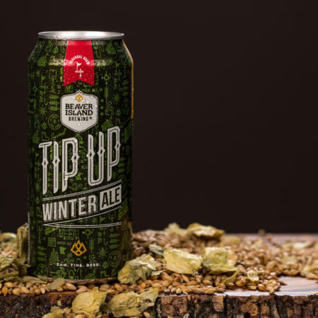 Beaver Island Brewing Tip Up hops + grains