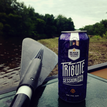 Beaver Island Brewing Tribute Summer IPA with paddle
