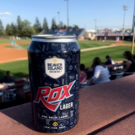 Beaver Island Brewing Rox Lager at Joe Faber Field