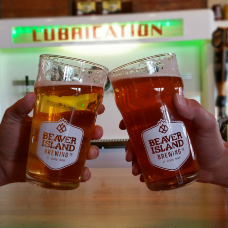 Beaver Island Brewing Taproom cheers