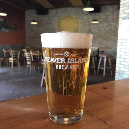 Beaver Island Brewing Taproom pint 1