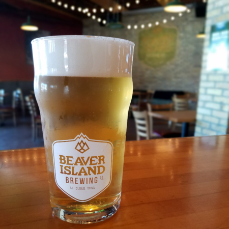 Beaver Island Brewing Taproom pint 2