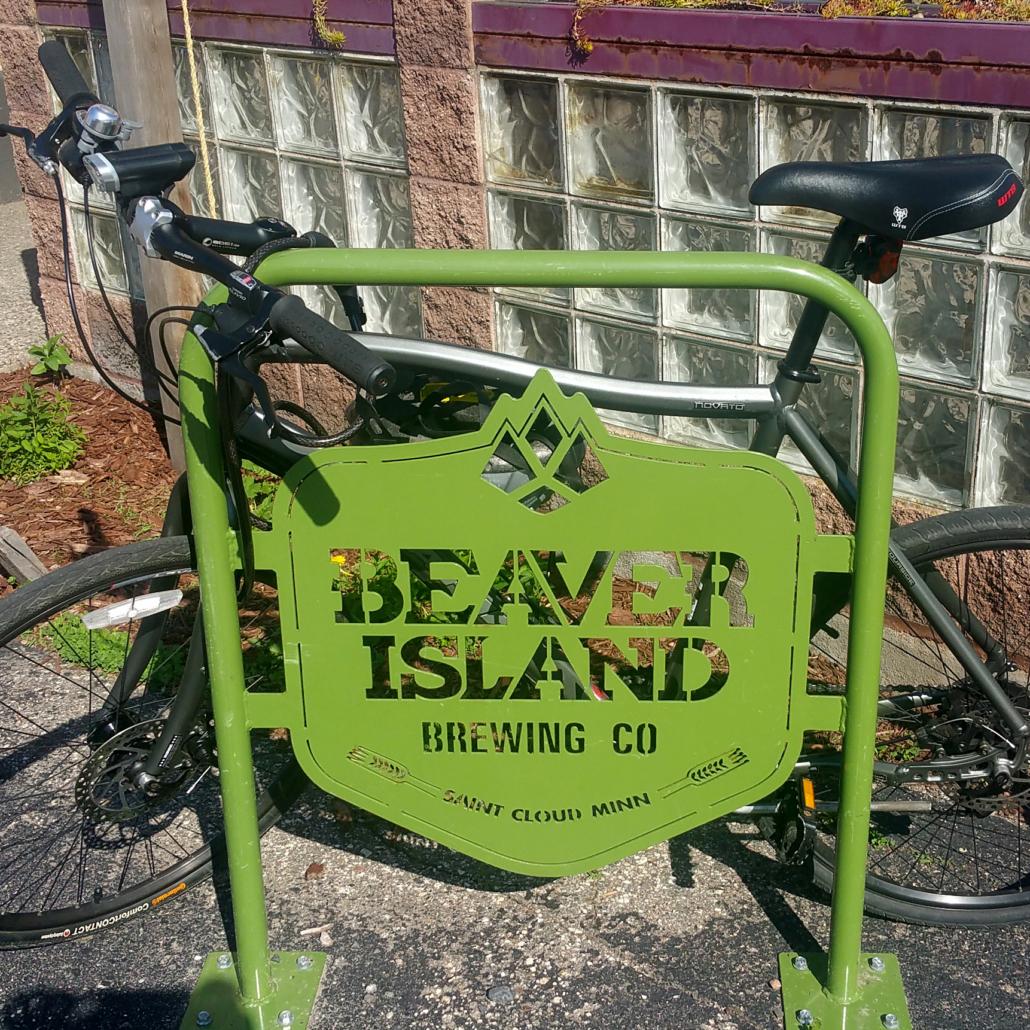 Beaver Island bike and bike rack